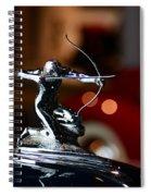 1936 Pierce Arrow Hood Ornament Spiral Notebook