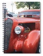 1936 Plymouth Two Door Sedan Front And Side View Spiral Notebook