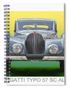 1937 Bugatti 57 S C Atalante Spiral Notebook