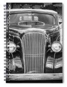 1937 Chevrolet Custom Convertible Bw Spiral Notebook