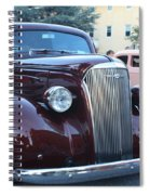 1937 Chevy Two Door Sedan Front And Side View Spiral Notebook
