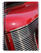 1937 Desoto Front Grill And Head Light 7285 Spiral Notebook