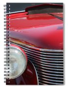 1937 Desoto Front Grill And Head Light-7289 Spiral Notebook
