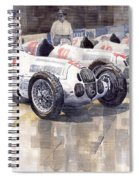 1937 Monaco Gp Team Mercedes Benz W125 Spiral Notebook