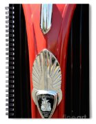 1937 Plymouth  Emblem Spiral Notebook