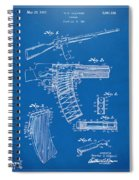 1937 Police Remington Model 8 Magazine Patent Artwork - Blueprin Spiral Notebook