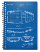 1938 Rowboat Patent Artwork - Blueprint Spiral Notebook