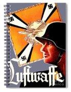 1939 German Luftwaffe Recruiting Poster - Color Spiral Notebook