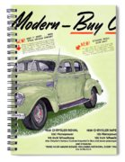 1939 Imperial Vintage Automobile Ad Spiral Notebook