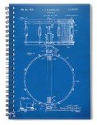1939 Snare Drum Patent Blueprint Spiral Notebook
