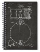1939 Snare Drum Patent Gray Spiral Notebook