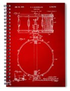 1939 Snare Drum Patent Red Spiral Notebook
