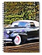 1940 Cadillac Coupe Convertible Spiral Notebook