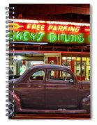 1940 Ford Deluxe Coupe At Mickeys Dinner  Spiral Notebook