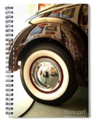 Classic Maroon 1940 Ford Rear Fender And Wheel   Spiral Notebook