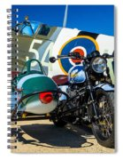 1940 Triumph And Supermarine Mk959 Spitfire  Spiral Notebook