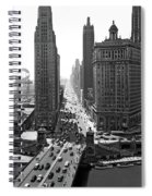 1940s Downtown Skyline Michigan Avenue Spiral Notebook