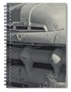 1940's Ford Truck Black And White Spiral Notebook