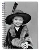 1940s Girl In Oversized Velvet Dress Spiral Notebook