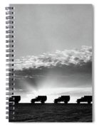 1940s Line Of Anonymous Silhouetted Spiral Notebook