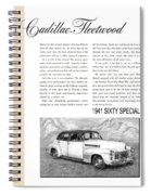 1941 Cadillac Fleetwood Sedan Vintage Ad Spiral Notebook