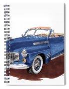 1941 Cadillac Series 62 Convertible Spiral Notebook