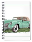 1941 Lincoln V-12 Continental Spiral Notebook