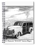 1941 Plymouth Woody Spiral Notebook