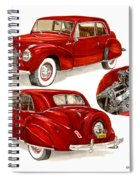 1941 V 12  Lincoln Continental Spiral Notebook