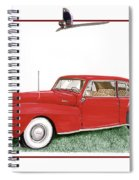 1942 Lincoln Continental Coupe Spiral Notebook
