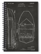 1943 Chris Craft Boat Patent Artwork - Gray Spiral Notebook