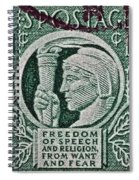 1943 Freedom Of Speech And Religion Stamp Spiral Notebook