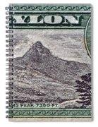 1946 Ceylon - Sri Lanka - Stamp Spiral Notebook
