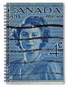 1947 Canada Four Cents Stamp Spiral Notebook