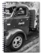 1947 Ford Coca Cola C.o.e. Delivery Truck Bw Spiral Notebook