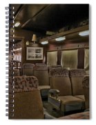 1947 Pullman Railroad Car Interior Seating Spiral Notebook
