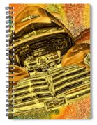 1948 Chev Gold Tie Dye Tilt Car Art Spiral Notebook