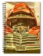 1948 Chev Red Gold Metal Art Spiral Notebook