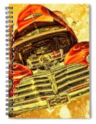 1948 Chevy Gold Acid Art Spiral Notebook