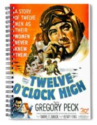 1949 - Twelve O Clock High Movie Poster - Gregory Peck - Dean Jagger - 20th Century Pictures - Color Spiral Notebook