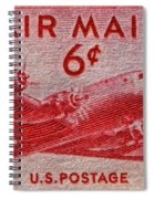 1949 Dc-4 Skymaster Air Mail Stamp Spiral Notebook