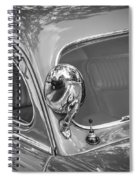 1949 Mercury Club Coupe Bw   Spiral Notebook