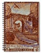 1949 San Francisco Ruins Dominican Republic Stamp Spiral Notebook