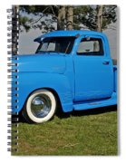 1950 Baby Blue Chevrolet Pu Spiral Notebook