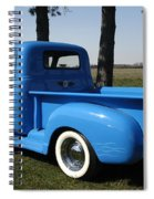 1950 Chevrolet Pick Up Baby Blue Spiral Notebook