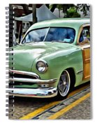 1950 Ford Deluxe Woody Station Wagon Spiral Notebook