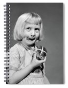 1950s 1960s Blonde Girl Licking Spiral Notebook