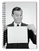 1950s 1960s Smiling Man Funny Facial Spiral Notebook