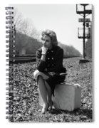 1950s 1960s Woman Sad Worried Facial Spiral Notebook