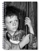 1950s Boy Wearing Raccoon Skin Hat Spiral Notebook